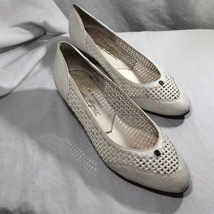 Etienne Aigner Vintage White Heels